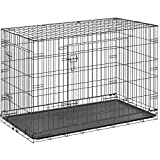 ottostyle.jp 折り畳み式 ペットケージ ドッグサークル (トレイ付き) XXLサイズ 大型犬用 ブラック 幅106cm×奥行き71cm×高さ76cm ドッグルーム