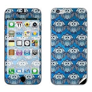 Skintice Designer Mobile Skin Sticker for Apple iPhone 6 Plus , Design - Blue Owl pattern