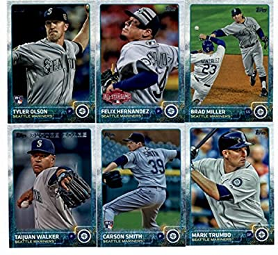 2015 Topps Baseball Cards Seattle Mariners Complete Master Team Set (Series 1 & 2 + Update - 31 Cards) With Kendrys Morales, Dominic Leone, Fernando Rodney, Charlie Furbush, Chris Young, Mike Zunino, Dustin Ackley, Felix Hernandez, Kyle Seager
