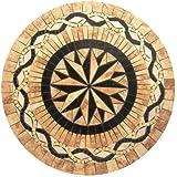 "Tile Floor Medallion Marble Mosaic Multi Star 8 Points Design 24"""