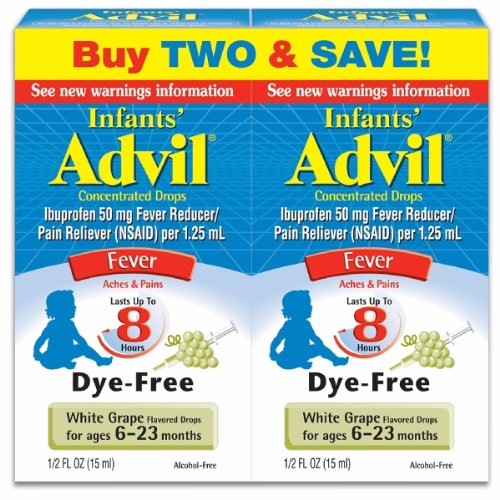 Children's Advil Infant Drops, For Ages 6 - 23 Months, White Grape, 1/2 Ounce Twinpack