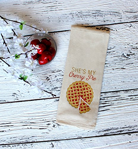 She's My Cherry Pie Natural Organic 100% Cotton Kitchen Towel (Shes My Cherry Pie compare prices)
