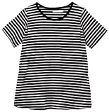 アビックス アルゴヴィア マタニティ授乳口付きシンプル半袖Tシャツ M グレー×ブラック ベア天竺 366328