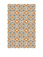 Huella deco Felpudo de Vinilo (Naranja/Azul)