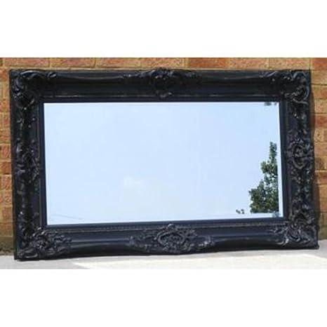 Large Ornate Black Monaco Mirror (5ft x 3ft)