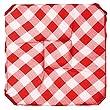 Couleur Montagne 3007238 Galette 4 rabats 36 x 36 x 3.5 cm polyester imprim� Vichy rouge