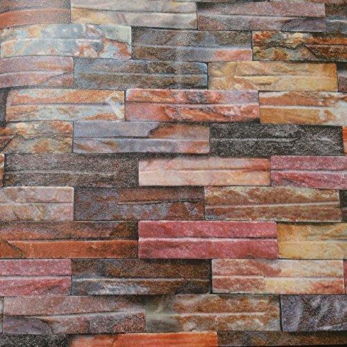 papier-peint-wall-paper-wallpaper-peinture-murale-epaissie-brique-simulee-de-mires-de-couleur-brique