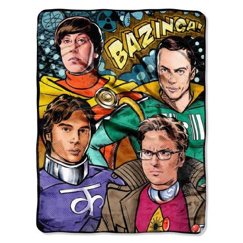 The Northwest Company Warner Bros Big Bang Theory Coplay Micro Raschel Blanket, 46 By 60-Inch