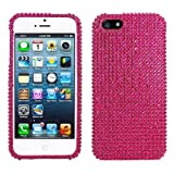 Lumii Ark 3D Bling Crystal Design Case for Apple iPhone 5 -HOT Pink Rhinestone