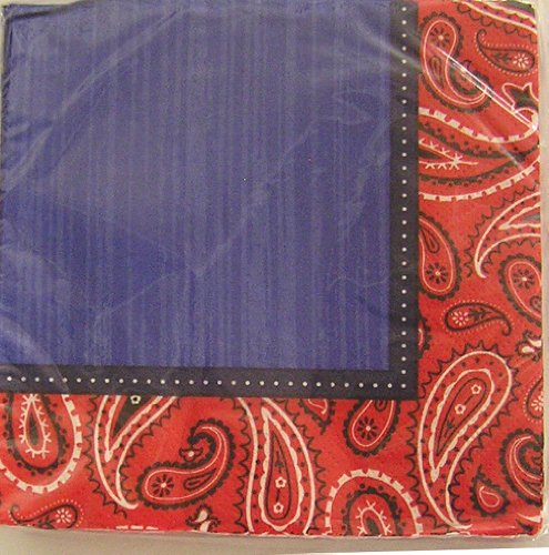 Amscan Bandana and Blue Jeans Luncheon Napkins