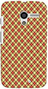 PrintVisa Pattern Checks Design Case Cover for Moto X