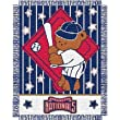 "Washington Nationals MLB Triple Woven Jacquard Throw (044 Series) (36x46"")"""