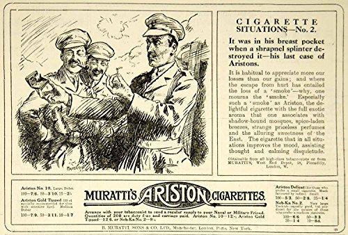 1916-ad-world-war-i-murattis-ariston-cigarettes-officers-smokes-british-advert-original-print-ad