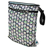 Planet Wise Wet/Dry Washable/Reusable Wet Bag For Swimwear Diapers Gym Yoga Travel Etc (Made In USA) (Carnival...