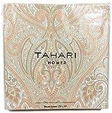 "Tahari Home Fabric Shower Curtain Roseman Paisley Scroll Medallion Sorbet Coral Orange Peach Tan Taupe 72 x 72"""