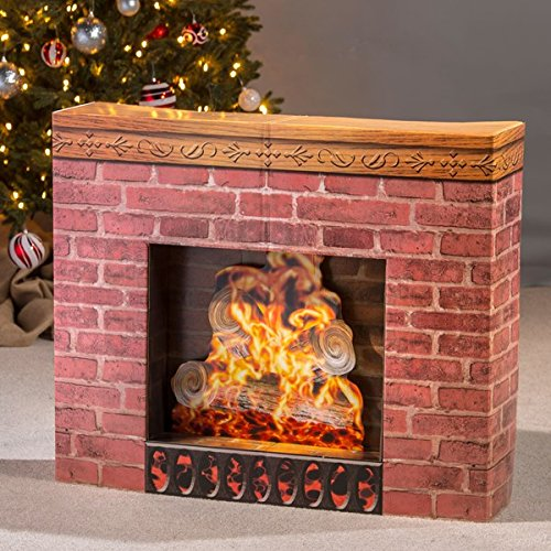 Cardboard Christmas Fireplace Prop (Fireplace Chimney compare prices)