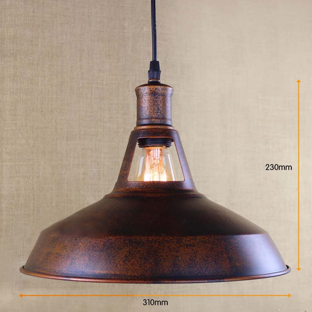 BAYCHEER HL421217 Industrial Retro Vintage style 12'' Wide Small Single Light Pendant Light Lampe Chandelier in Antique Copper use E26/27 Bulb 1