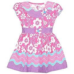 Rush Me Baby Girls' Dress (S.R.2009_5 Years, 5 Years, Pink)