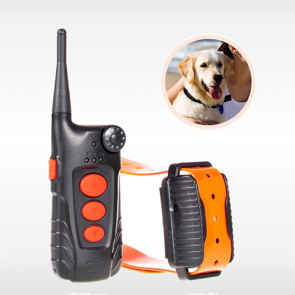 2016 Upgraded Aetertek AT-918C-1 4 in 1 Remote Shock Control Rechargeable and Waterproof Pet Dog Training Collar with Shock, Vibrate and Beep Dog Brak Collar for 1 Dog, Electronic Dog Training Shock Collar