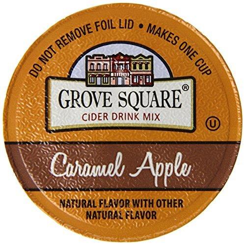 Grove Square CARAMEL HOT APPLE CIDER - 12 Single serve cups by Caramel Hot Apple Cider (Ziplock Single Serve compare prices)