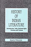 img - for A History of Indian Literature Vol I. Introduction, Veda, National Epics, Puranas and Tantras book / textbook / text book