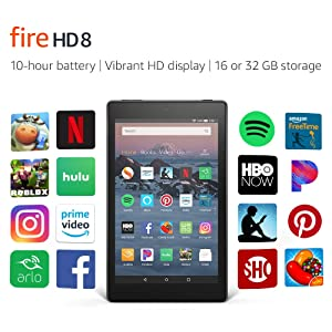 All-New Fire HD 8 Tablet | 8 HD Display, 16 GB, Black - with Special Offers (Color: Black)