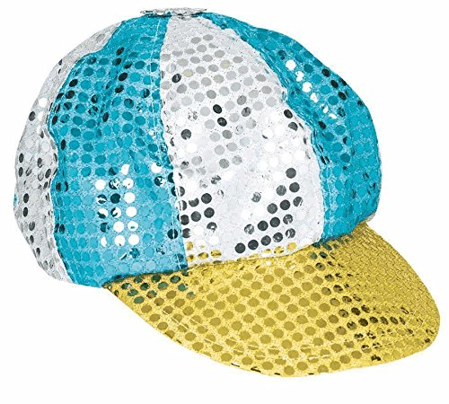hat multi clrd sequined discutout