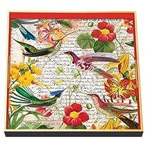 Michel Design Works 12-1/2-Inch Square Decoupage Square Wooden Tray Flora Exotica