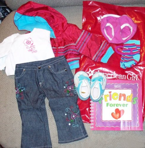 AMERICAN GIRL READY FOR FUN OUTFIT + BOOK COMPLETE NEW