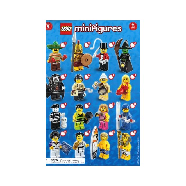 LEGO Collectible Minifigures Series 2 8684 17 Complete Set of 16