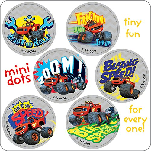 Blaze and the Monster Machine Mini Dots Stickers - Birthday Party Supplies & Favors - 450 per Pack