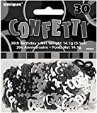 Schwarz und Silber Alter 30 Confetti