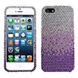 Lumii Ark 3D Bling Crystal Design Case for Apple iPhone 5 - Purple Waterfall