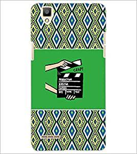 PrintDhaba Film D-6038 Back Case Cover for OPPO F1 (Multi-Coloured)