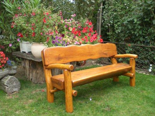 gartenbank rustikal massiv 085700 eine. Black Bedroom Furniture Sets. Home Design Ideas