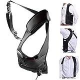 Men Security Holster Strap Messenger Bags Underarm Shoulder Bag Burglar Phone Pouch Tactical Bag (Color: A01:Black, Tamaño: one size)