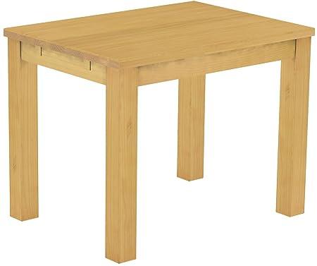 brasilm oebel® Tavolo da pranzo Rio classico in legno di pino massiccio in 27misure e 45colori in 1215varianti-in vero legno con 33mm foderata piastre-massiccio in economia forestale sostenibile-&n