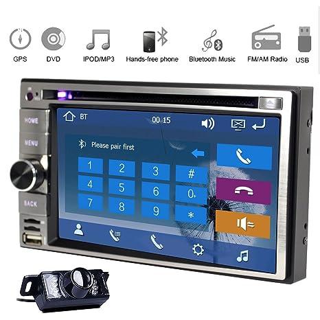"Bluetooth WIN 8 UI 6.2 ""d'šŠcran de tš¢ctil accesorios coches Lecteur DVD Fr Bluetooth Rociada GPS FM Radio AM Automotriz estšŠreo iPod Bluetooth USB Coche Logo Vehšªculo SD AUX Logo Cš¢"