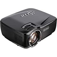 Hausbell GP70 Full HD 1080p 1500ANSI-Lumens LED Portable Projector (Black)