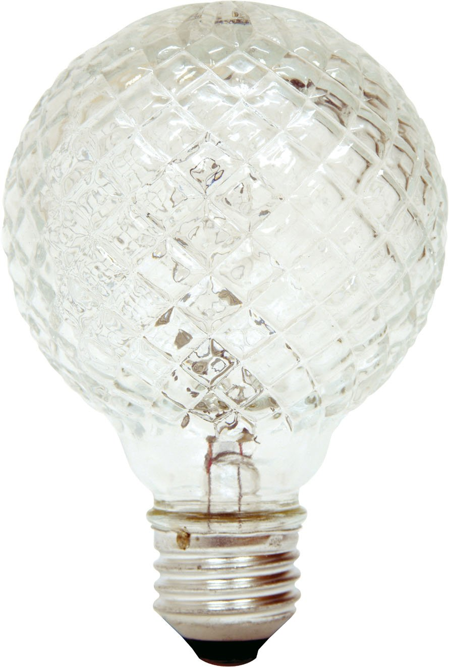 GE Lighting 16774 40-Watt Halogen Faceted G25 Vanity Light Bulb, 1-Pack , New, F