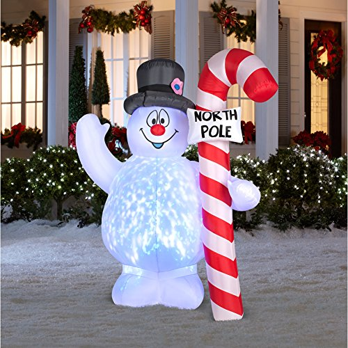 Awesome 4 foot self inflating illuminated snowman holiday for Amazon christmas lawn decorations
