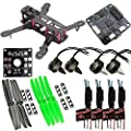 LHI QAV 250mm Quadcopter Race Copter Frame Kit ARF+ CC3D Flight Controller + MT2204 2300KV Motor + Simonk 12A ESC + 5030 propeller