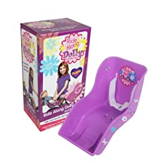 Doll Bicycle Seat - Ride Along Dolly Bike Seat (Purple) with Decorate Yourself Decals (Fits American Girl Dolls)-Retail Box