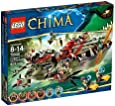 Lego Legends Of Chima - Playthèmes - 70006 - Jeu de Construction - Le Croc Navire Cragger