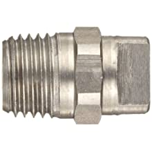 "Dixon NZ1504 Brass High Pressure Spray Nozzle, 1/4"" NPT Male Inlet, 15 Degree Angle"