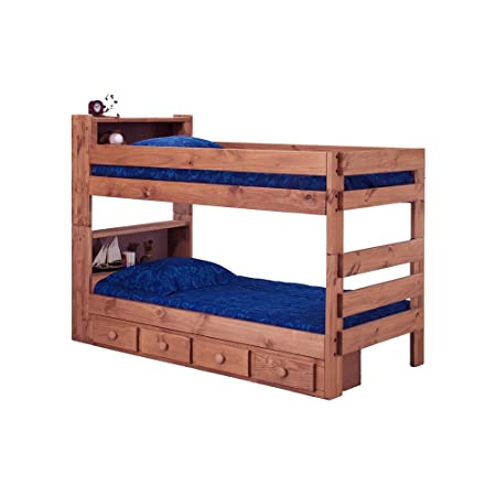 Twin Over Twin Bookcase Bunk Bed with Storage by Chelsea Home