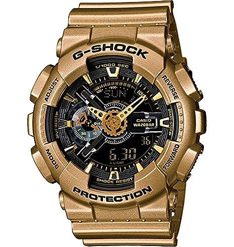 Casio - G-Shock - Big Case Series - Black / Yellow Gold - GA110GD-9B