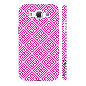 Samsung Galaxy Win I8552 Pink Greecian Pattern designer mobile hard shell case by Enthopia