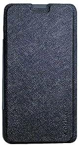 Fortuna RTCB88 Flip Cover Case for Micromax Bolt D321 (Black)