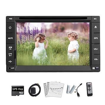 RDS Windows CE GPS Navigation Audio En tablero unidad principale de DVD del coche de CD Receptor Video Player 6.2 pulgadas Double Din 2 Receptor de soporte de Bluetooth BT Auto Radio numšŠrique d'šŠcran tš¢ctil USB